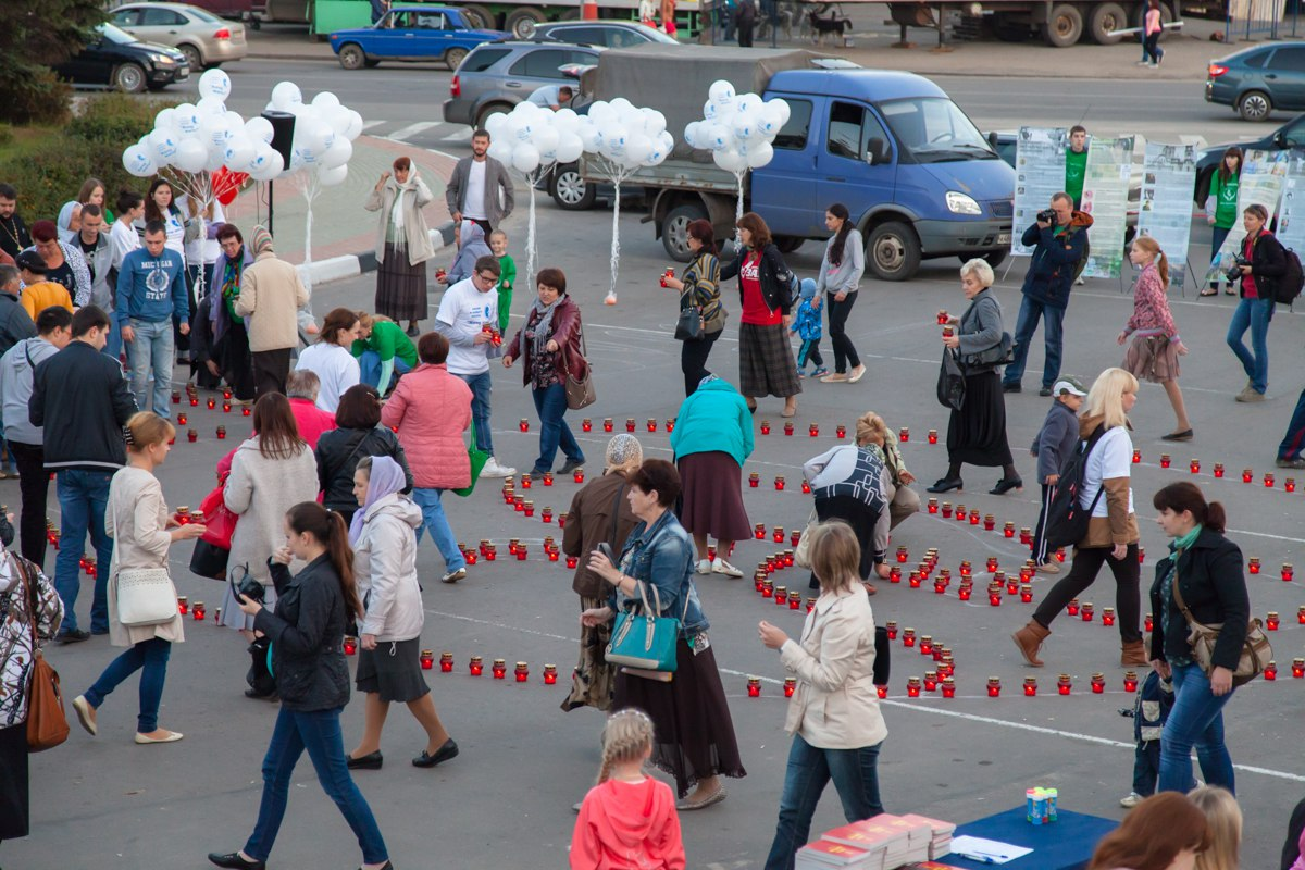 """Противоабортная акция """"Хочу жить!"""" проведена в городе Дзержинске 15.09.15г."""