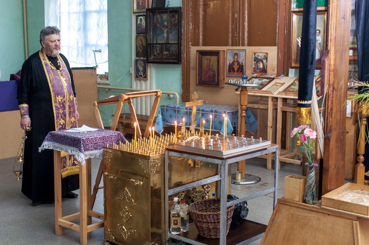 Панихида в храме святителя Спиридона г.Ломоносов