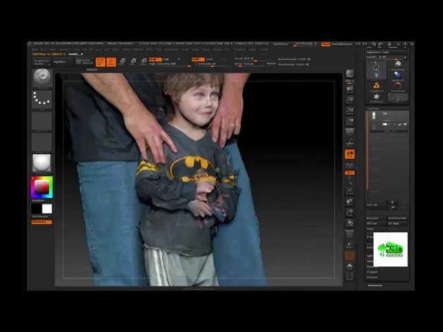 Zbrush tutorial to repair 3d scanned models of people