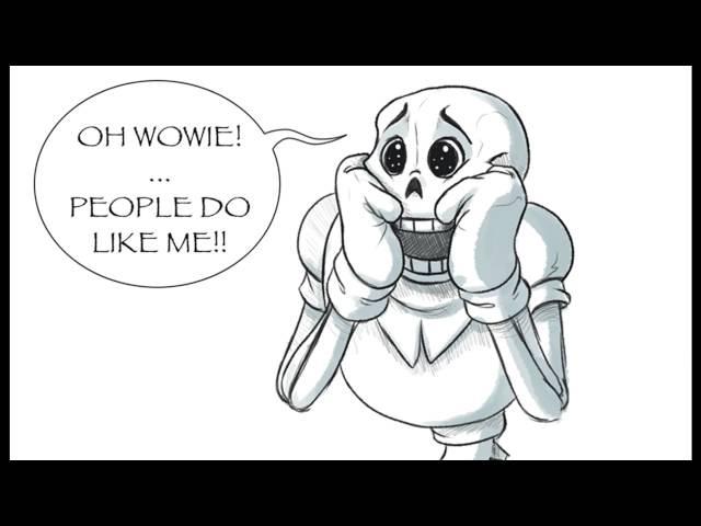 Undertale Comic Dub Papyruss New Fan