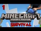 Майнкрафт ПЕ Виживание - Пора в шахту! (Часть 2)
