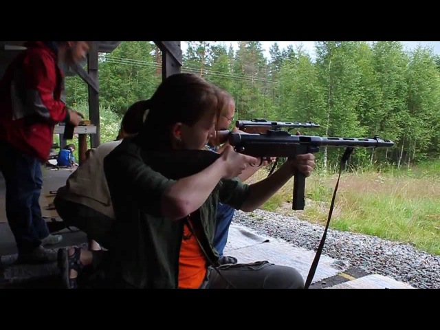 Пистолет пулемет Суоми Suomi submachine gun