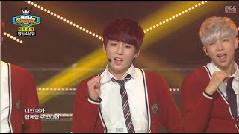 BTS - Just One Day, 방탄소년단 - 하루만, Show Champion 20140409