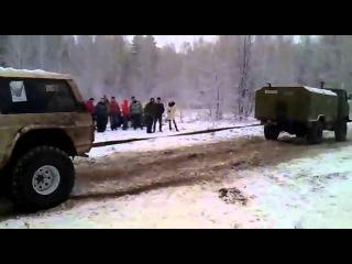 Х4 Шишига Газ-66 и Toyota Бомба - Бездорожье в лесу