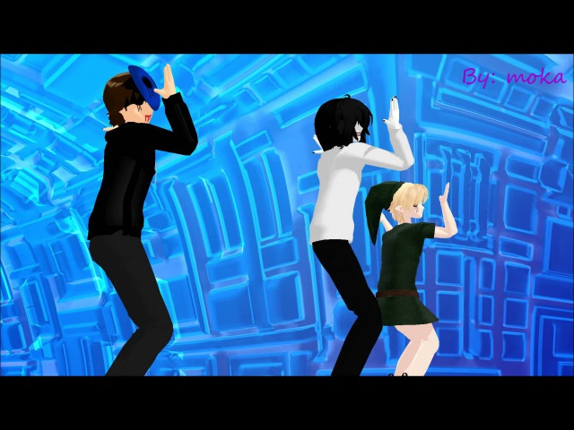 MMD Bo Peep Bo Peep Jeff the killer, Eyeless Jack and Ben Drowned