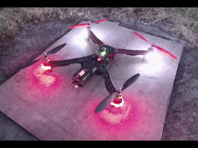 LED Drone = APM 2.6F4502212(1000kv)RadioLink AT9