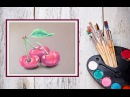 Как нарисовать вишню пастелью! Dari_Art