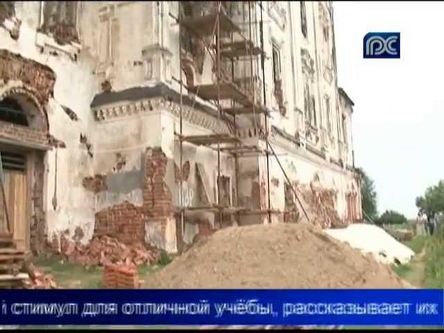 Добровольцы восстанавливают храм Василия Великого на Едке