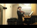 БИС Шуберт Сонатина  op.137 №2 финал Даниил Коган (скрипка)   Анна Тамаркина (фортепиано)