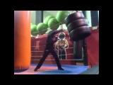 Брутальный  мешок - брутальная интервальная  треня. Тренировка в тренировочной маске , удары по мешку. Workout Bag Training Mask