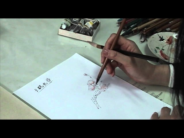 What is Gongbi Style Chinese Painting? an instructional demonstration with Prof Rao 饶薇(3/7)