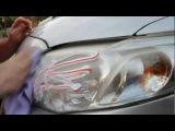 Чистка фар зубной пастой   Cleaning Headlights With Tooth Paste