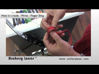 How It´s Made : Wrist-Finger sling with Archery Laces
