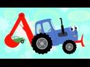 Трактор - развивающая мультики про машинки - теремок тв караоке - песенки для дет...