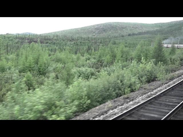 БАМ из окна поезда.Новая Чара-Хани.Часть6.Подьём в Мурурин.