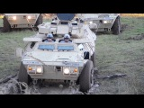 M1117 Stucks in the Mud- US Soldiers Training to Recover Armored Security Vehicle