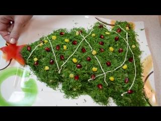 Салат на новый год Елочка - 720x540
