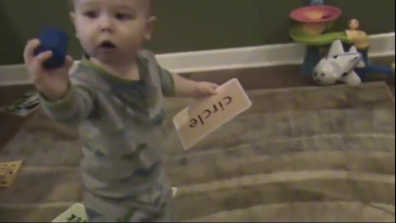 This baby is only 16 months old and is already a genius