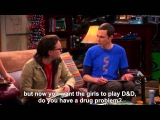 The Big Bang Theory - Howard's Impressions of Cage-Pacino-Walken--Subtitled