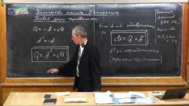 Урок 170 Количество теплоты Первый закон термодинамики