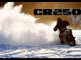 Honda Cr 250 dirt bike ICE RACING         A video produced by Frez Productions