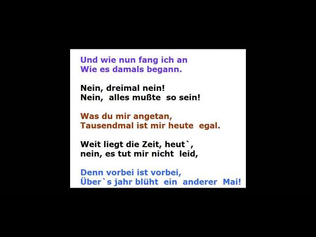Мирей Матье поет на немецком языке