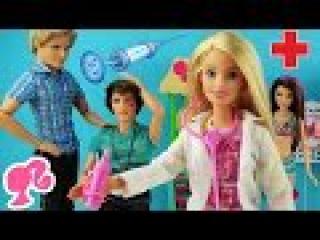 Барби доктор. Романтический вечер с Кеном. Мультик с куклами игрушки для девочек ♥ Barbie doctor Ken