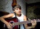 Песни под гитару девушка играет на гитаре и поёт очень красиво