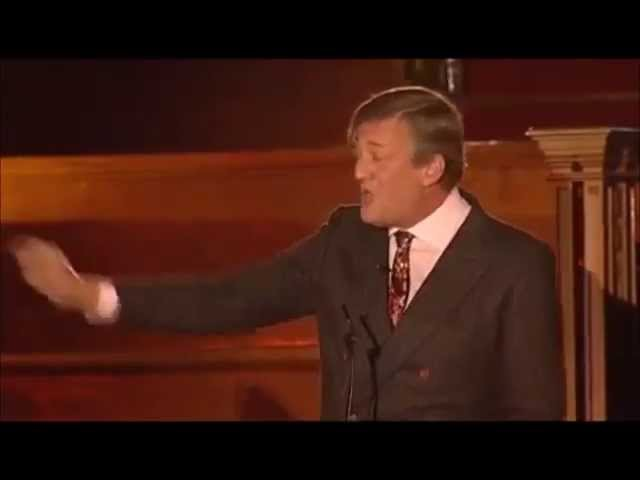 Stephen Fry's Emotional speech in a debate with Christopher Hitchens