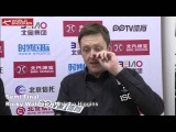 2016 Snooker China Open Ricky Walden semifinal interview