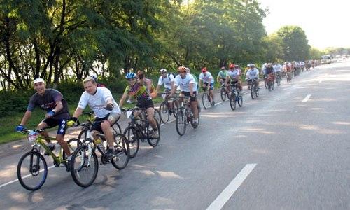 В субботу в Армянске прошёл велопробег