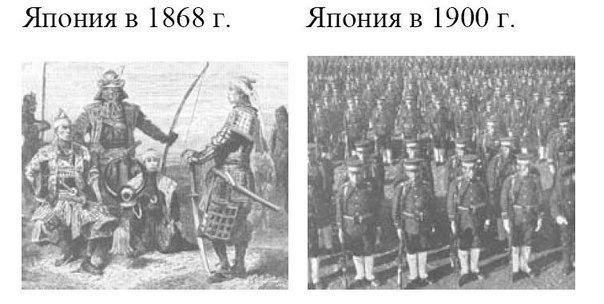 эра мейдзи — японский прорыв до середины 19 века япония была добровольно закрыта для внешнего мира и варилась в собственном соку.в японии император был чем-то типа короля во франции времен