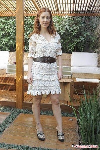 Картинки с описанием qо вязание женского платья