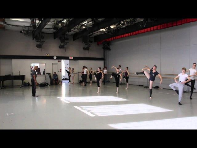 Matthew Rushing Master Class at the Kirov Academy of Ballet