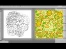 Как создаются узоры для одежды и полиграфии! / Pattern tracing - Adobe Illustrator AI 60 fps