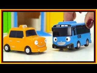Развивающий мультфильм про машинки на английском языке - Автобус Тайо и машинки-помощники.