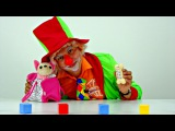 Funny videos for kids. Emil the clown plays with hungry dog! New!