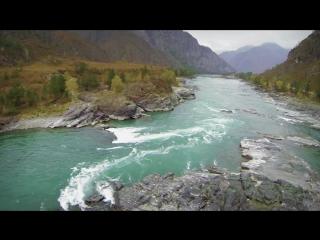 Горный Алтай. Красоты долины реки Катунь с высоты.