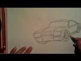 Как нарисовать машину.