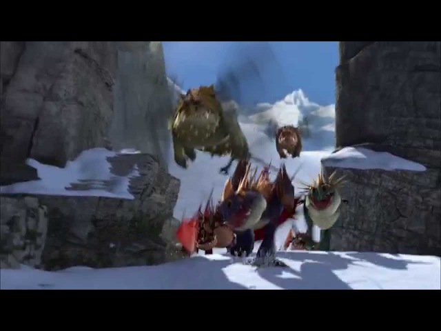 How to Train Your Dragon - Dragon-Viking Games: Snowboarding (extended version)