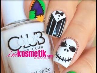 Идея маникюра к Halloween. Дизайн ногтей на Хэллоуин