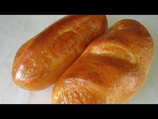 Молочный БАТОН рецепт в духовке Домашний ХЛЕБ на МОЛОКЕ Выпечка хлеба от