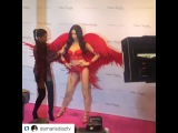 Angel Candice on Instagram Adri with her wax doll, was wonderful