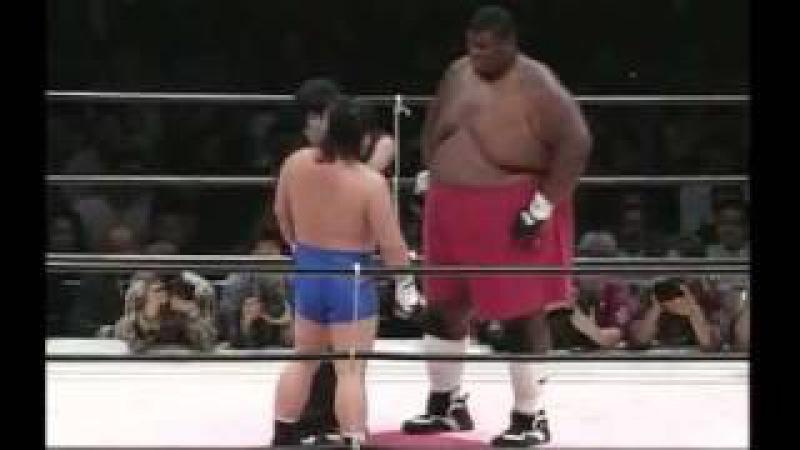 Человек гора против каратиста Emmanuel Yarborough vs.Tatsuo Nakano .mp4