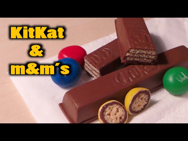 Realistic KitKat and m m's tutorial Polymer Clay
