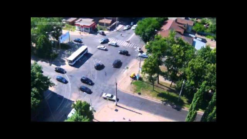 Жесткое ДТП авария в Уфе на перекрестке улиц Б Ибрагимова Ленина