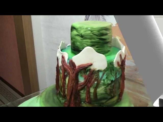 Заключительная серия о торте Буратино cake Buratino