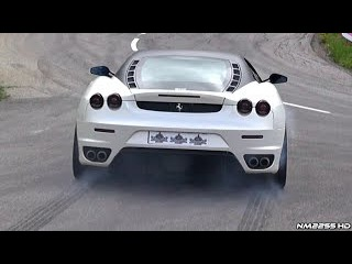 Insanely LOUD Ferrari F430 Tire Smoking Launch and Revs!