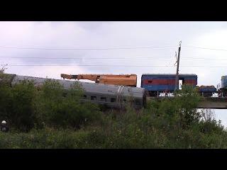 крушение пассажирского поезда в мордовии - первое видео с места