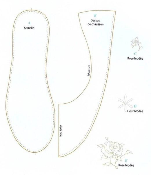 Тапочки тильда с размерами